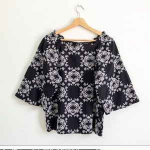 Ann Taylor Embroidered Floral Blouse
